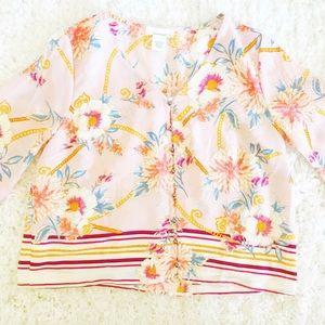 Floral v-neck blouse